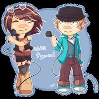 VOCALOID anniversary   Bruno and Clara by SpanishPandaHero