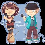 VOCALOID anniversary | Bruno and Clara by SpanishPandaHero