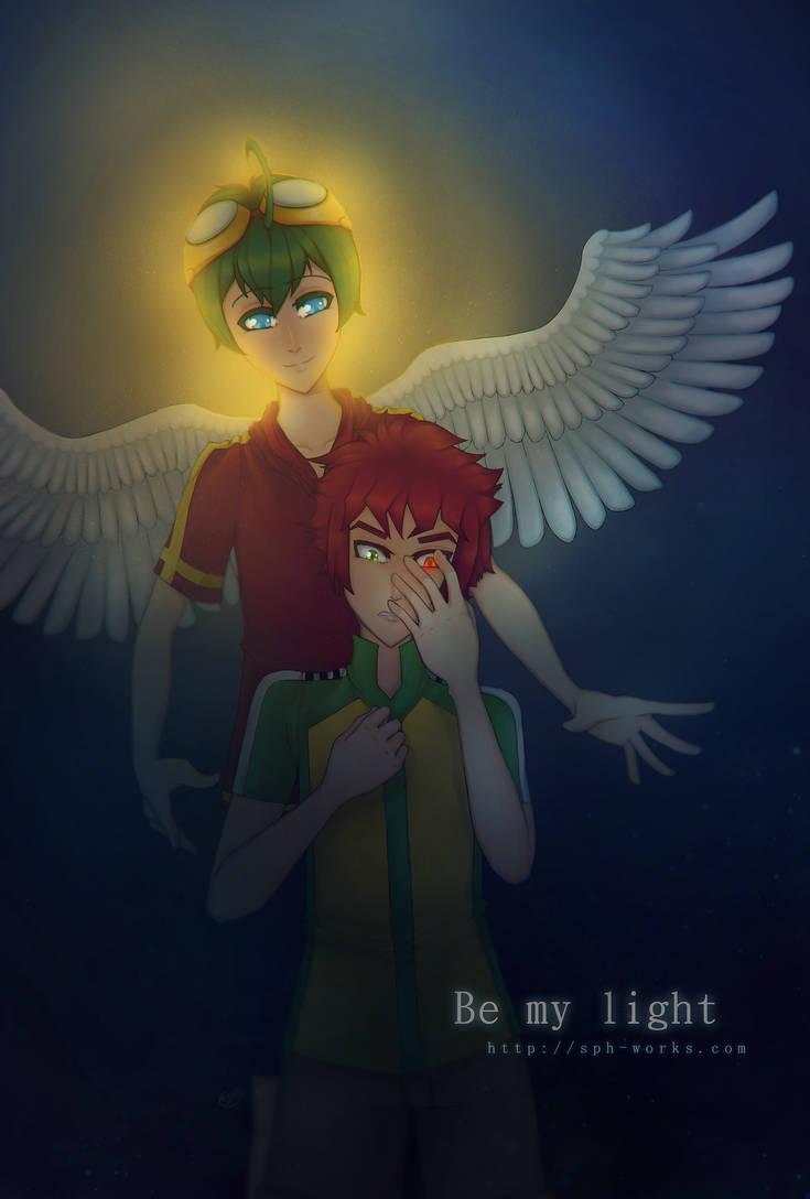 Appmon (Digimon)| Be my light | Haru and Yuujin by SpanishPandaHero