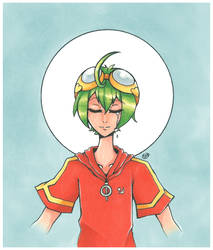 Appmon (Digimon)| Haru Shinkai | Inktober Day 1 by SpanishPandaHero