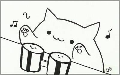 Bongo Cat | Inktober Day 2 by SpanishPandaHero
