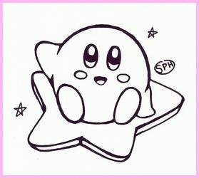 Kirby | Inktober Day 10 by SpanishPandaHero