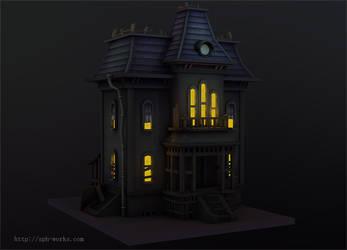 3D | Cartoon haunted house by SpanishPandaHero