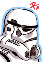 Stormtrooper CECE Sketch Cards by FrankRapoza
