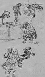 kratos vs tepegoz 001 by kardiyak