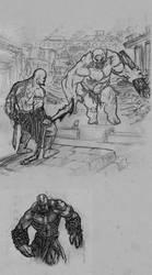 kratos vs tepegoz 002 by kardiyak