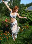 White Oriental Dress 6 by Philosopher-Vinni