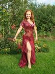 Claret Oriental Dress 2 by Philosopher-Vinni