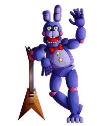 Ultimate Custom Night Collab - Rockstar Bonnie by GrimmArtworks
