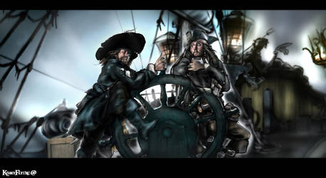 Two Captains,One Ship by KomyFlyinc@ by KomyFly