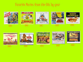 Favorite 1960s Films By Year by Jdailey1991