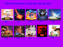 Favorite 1990s Films By Year by Jdailey1991