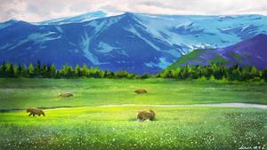 Landscape Sketch by lincochuan