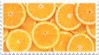 orange citrus stamp by GlacierVapour