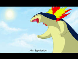 Go, Typhlosion by souku