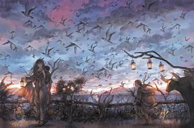 Innumerable birds by simetta