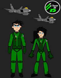 Danny and Danielle Fenton, USAF Phantom Squadron 2 by LooneyAces