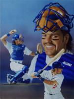 Baseball's Mike Piazza by Paluso4art