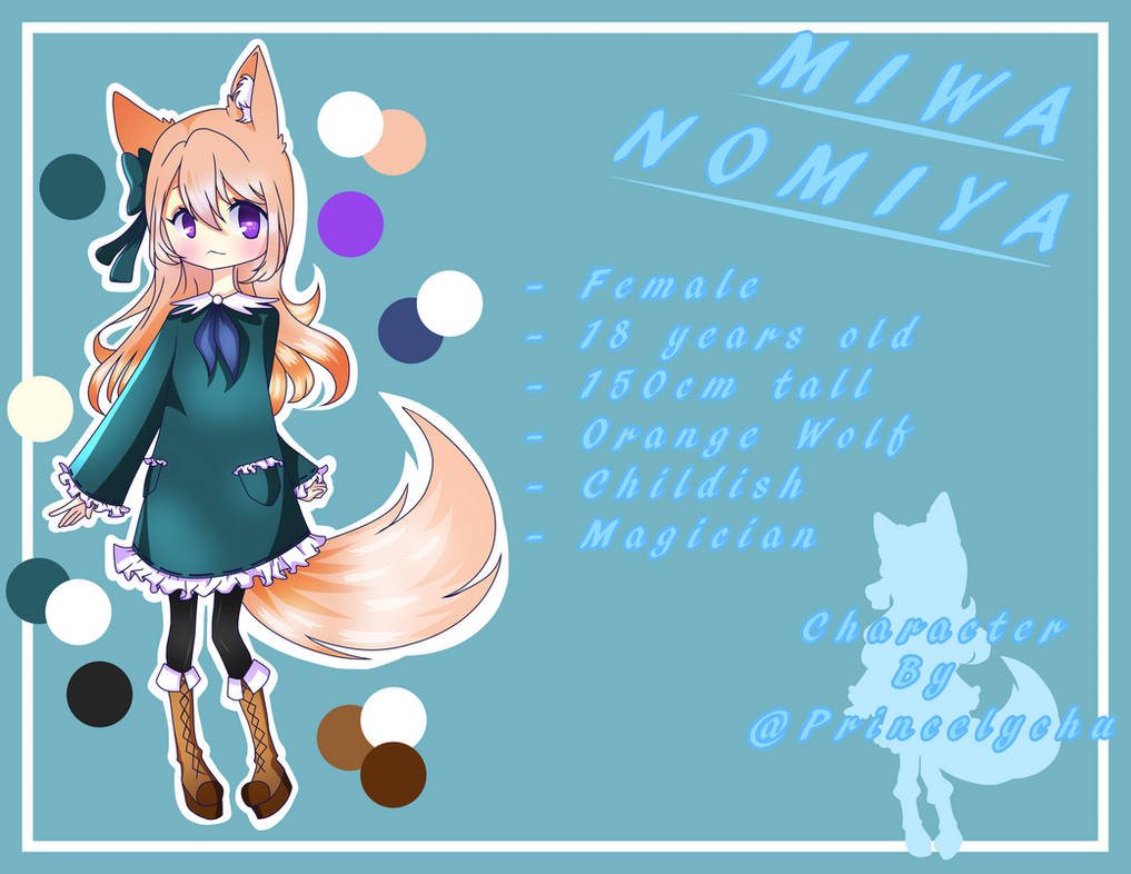 [OC] Miwa Nomiya by Princelychu