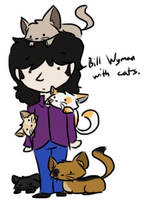 Bill Wyman with cats by psychedelic-weirdo