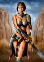 Warrior Portrait by Filip-Hammer