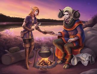 Tyurru and Jodariel by Sleepingfox