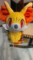 Pokemon Center Plush: Fennekin Pokedoll by kirbysuperstar97