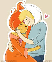 Flame Princess and Finn by Jackie-lyn