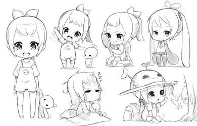 Chibi sketch by Fuka-Enrique