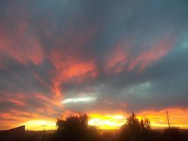 Fiery Sunset by Johnny-Aza
