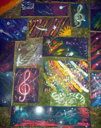 2 / 5 These are the paintings of all participants by Johnny-Aza