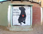 Street Art /_Adopt a stray dog by Johnny-Aza