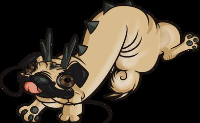 Pug Dragon by Hylian-Rinku