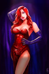 Jessica Rabbit by Forty-Fathoms