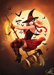Witchy Harley Quinn by Forty-Fathoms