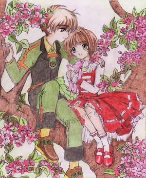 Sakura and Syaoran by Clarissa96