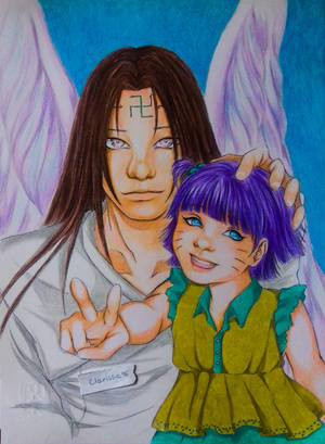 Neji and himawari by Clarissa96