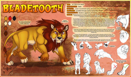 Reference Sheet - Bladetooth by JezzKitty