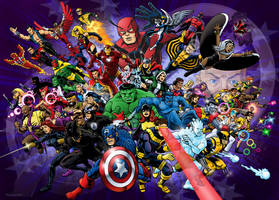 50 For 50 Avengers and X-Men by 66lightning