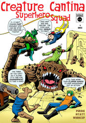 Creature Cantina Superhero Squad by 66lightning