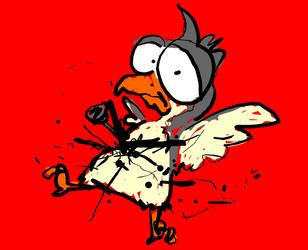 birdy got stabbed by Squidgevege