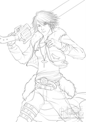 Final Fantasy 8 - Squall Leonhart by TheTakemi