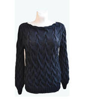 Black silk sweater by dosiak