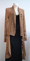 Crochet long sweater - coat by dosiak