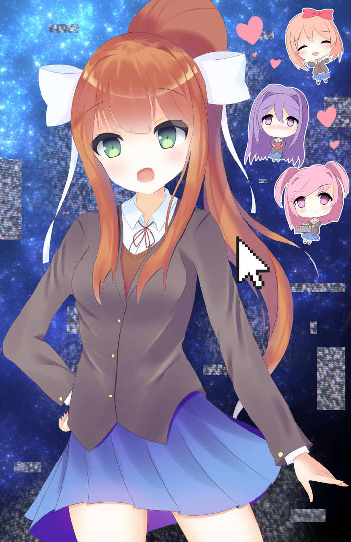 Just Monika by kawaiipony2