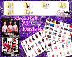 |STOP SHARE|+MegaPack K-Pop 250 Watchers {Thanks!} by ArianaMoya