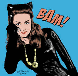 Julie Newmar Catwoman by ERTorre