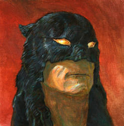 Color tribute to the Frazetta Dark Wolf character by Moulunerie