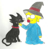 Maggie's Halloween Helper by TheSimpsonsFanGirl