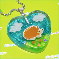 Happy Hedgehog Necklace by bapity88
